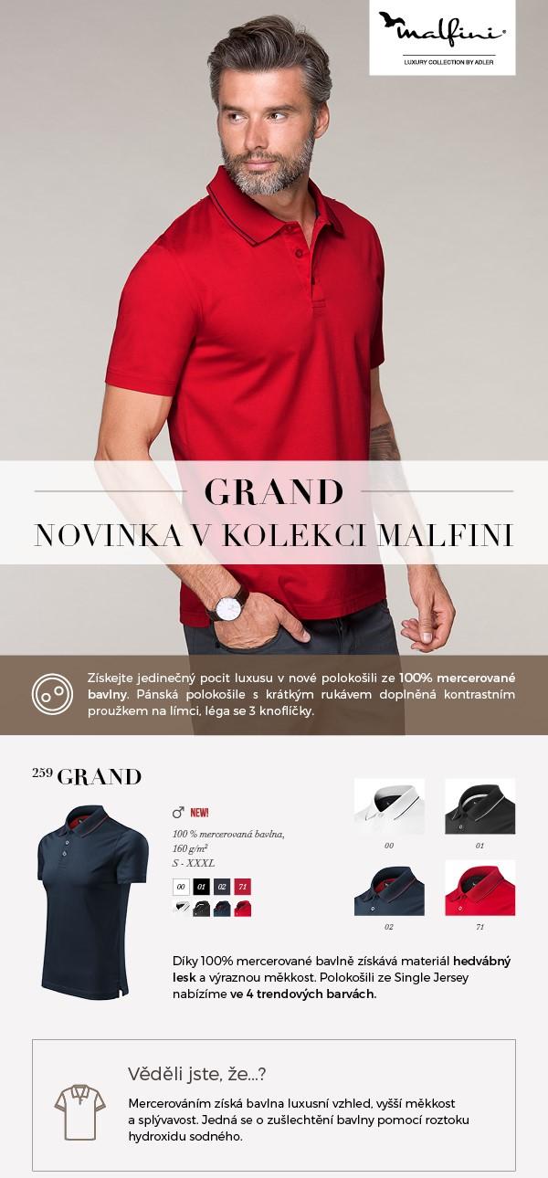 Grand polokošile Malfini -novinka 062016